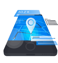 mobile navigation vector